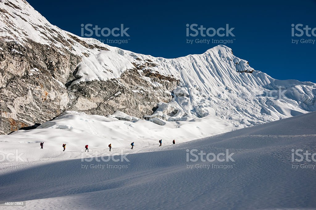 Island peak climbing, Everest region, Nepal stock photo