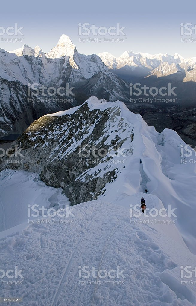 Island Peak - Nepal stock photo