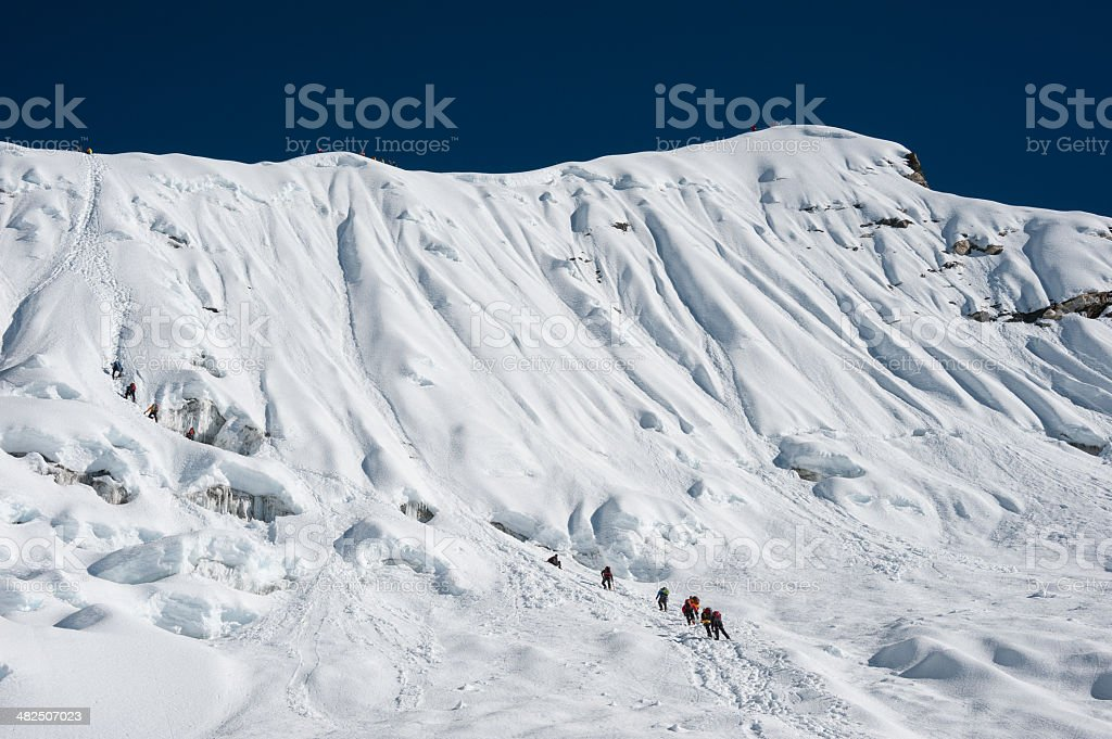 Island peak or Imja Tse climbing, Everest region, Nepal stock photo
