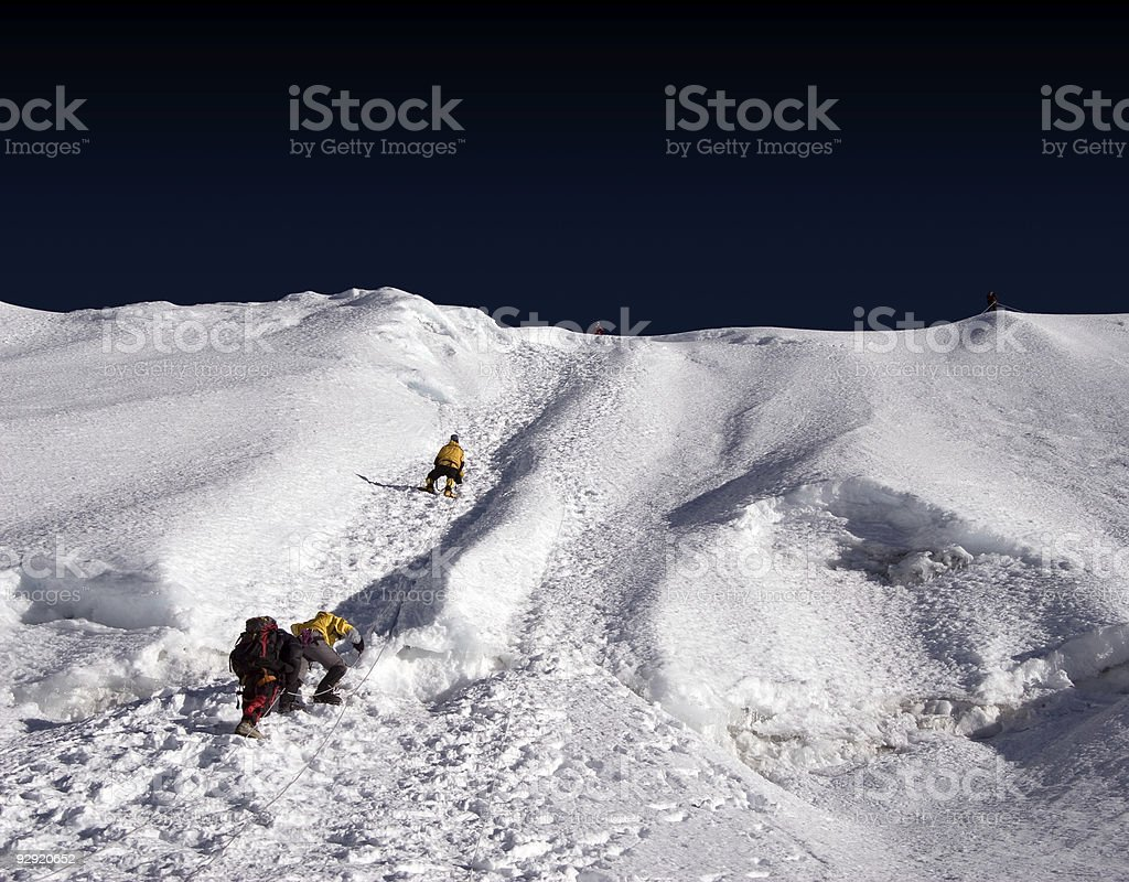 Island Peak Ridge - Nepal stock photo