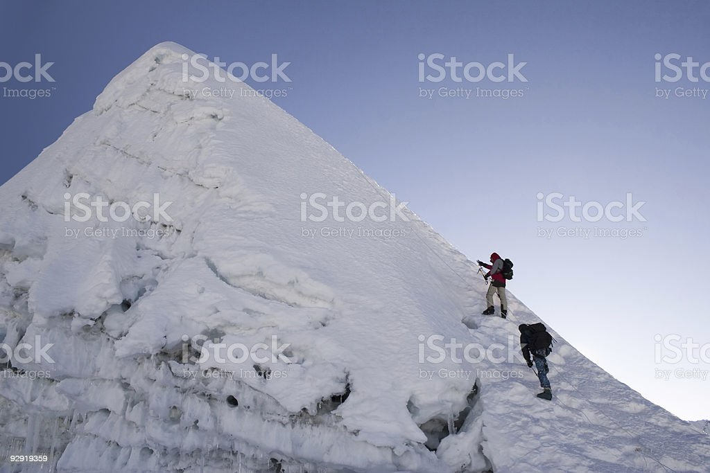 Island Peak Summit - Nepal stock photo