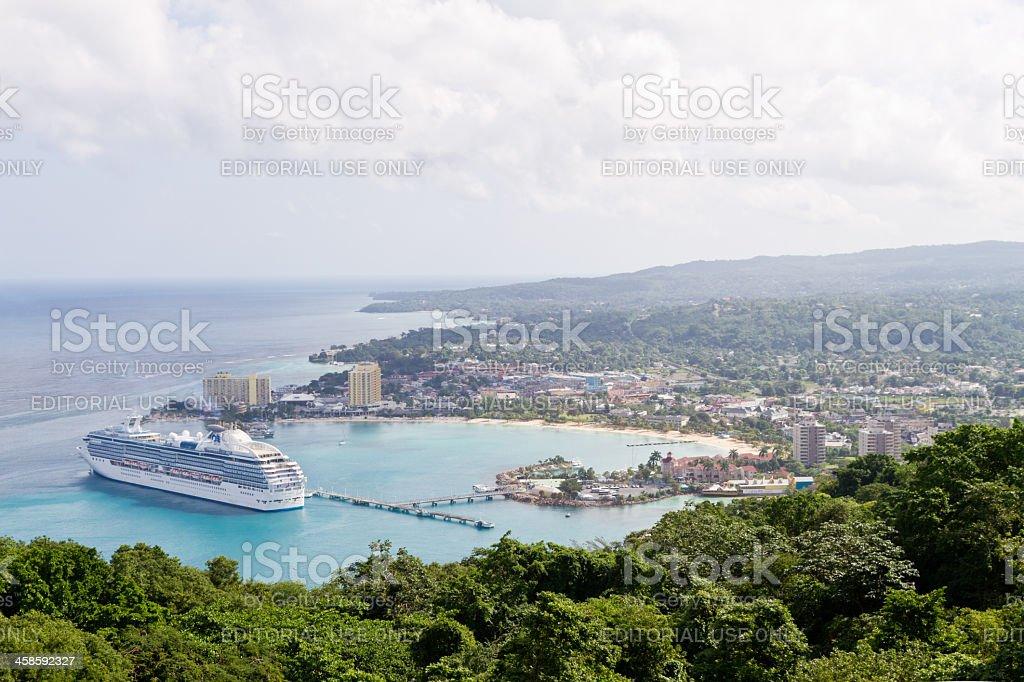 Island Princess Cruise Ship at Ocho Rios Jamaica stock photo