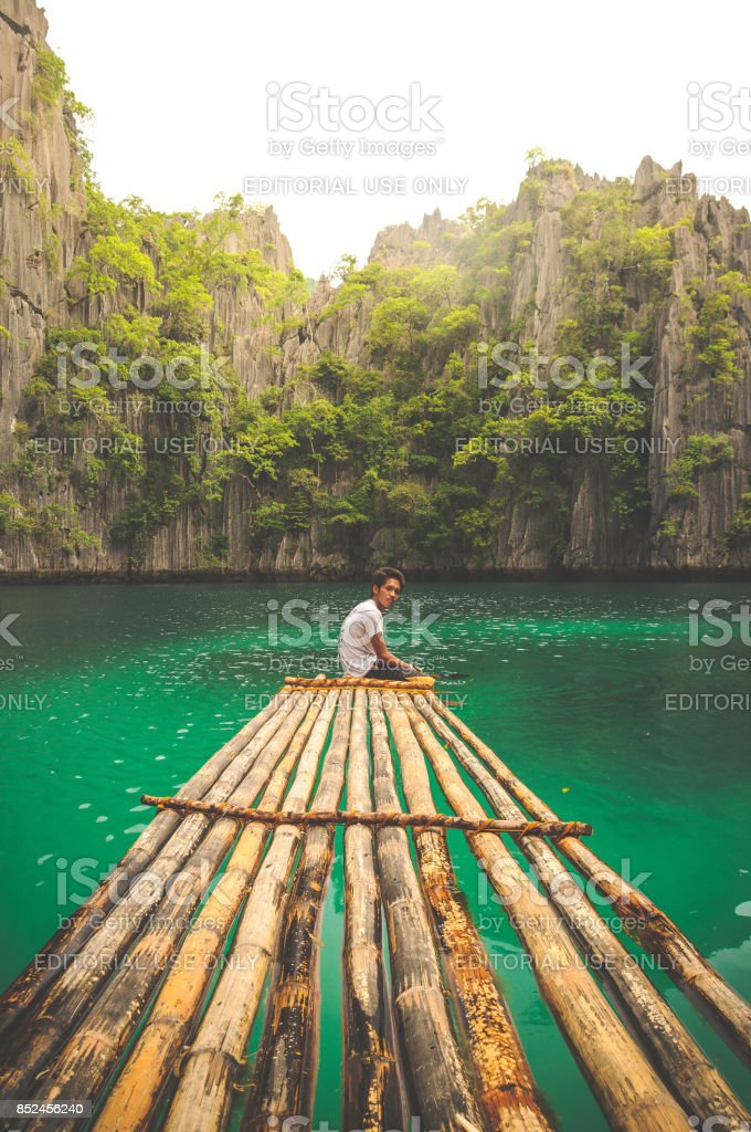 Island raft stock photo