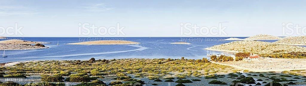 Island Ravni Zakan (XXXL panorama) royalty-free stock photo