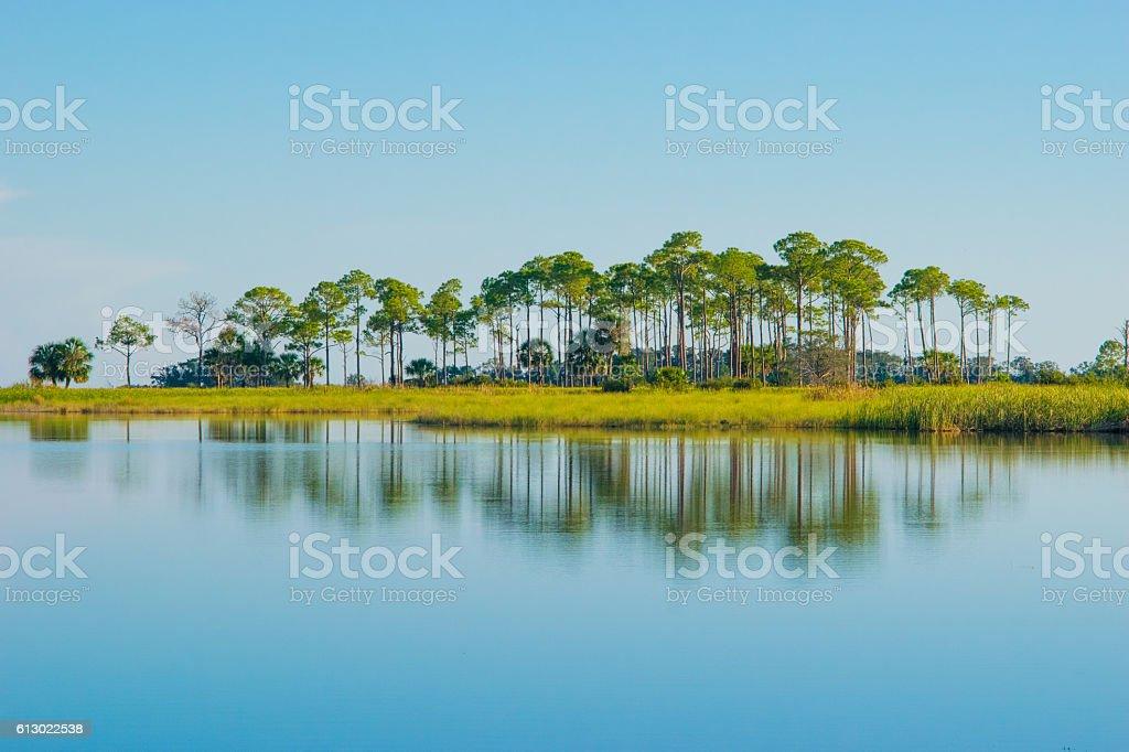 Island Reflection stock photo