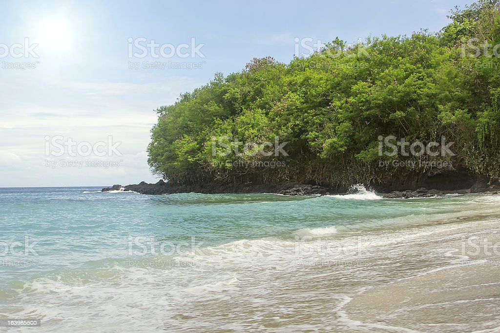 Island sea and sand beach nature destination, tropical view wall royalty-free stock photo