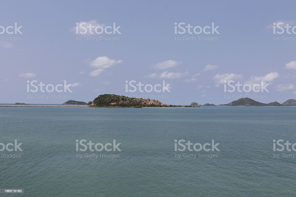 island sea, Rayong Thailand royalty-free stock photo