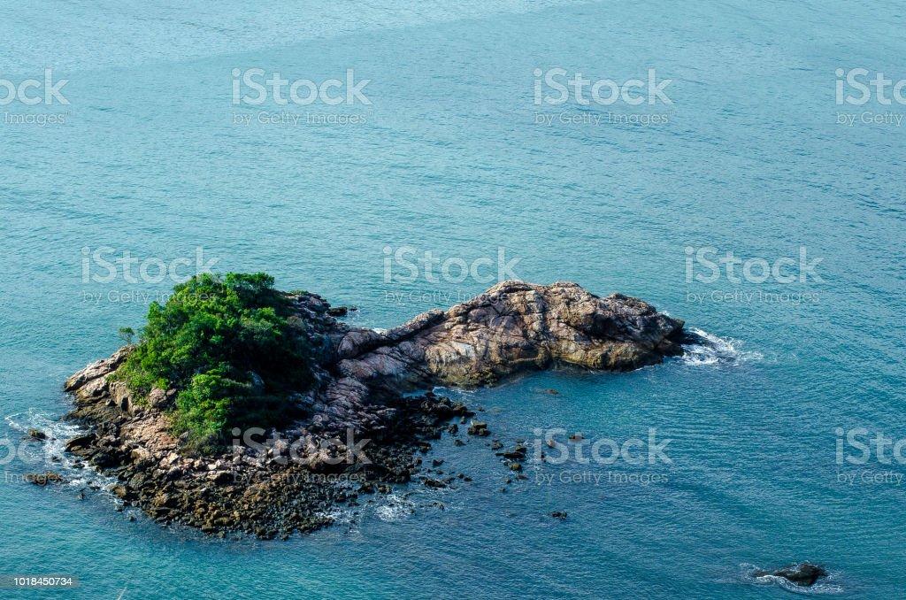 ilha, vista de cima - foto de acervo