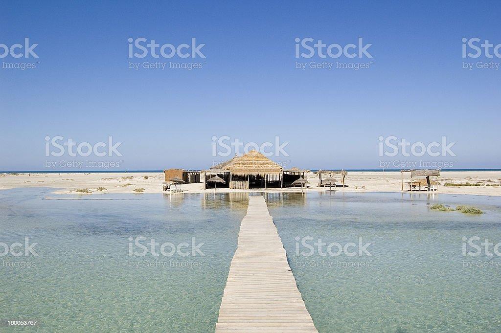 Island shack stock photo