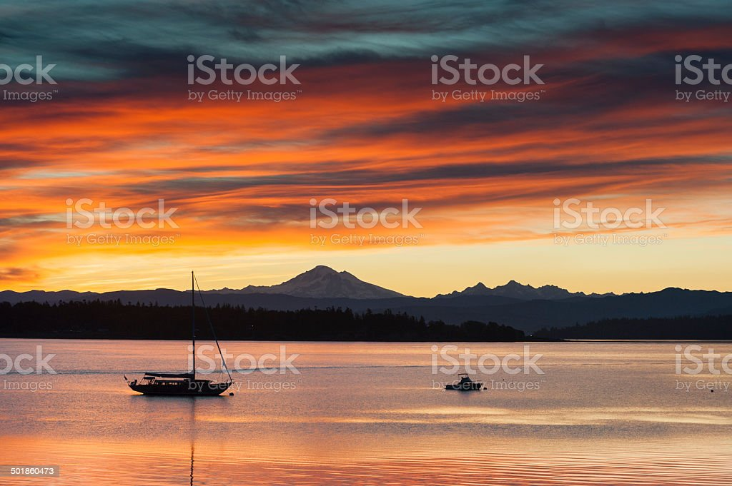 Island Sunrise stock photo