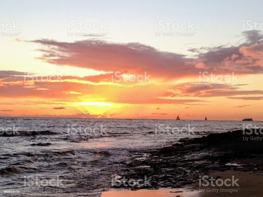 Island Sunset foto de stock royalty-free