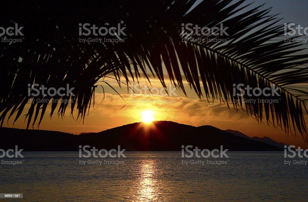 Island Sunset royalty-free stock photo