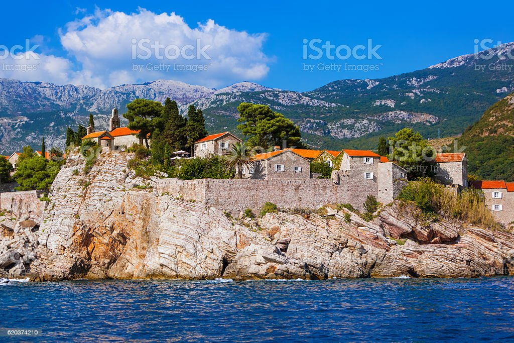 Island Sveti Stefan - Montenegro foto de stock royalty-free