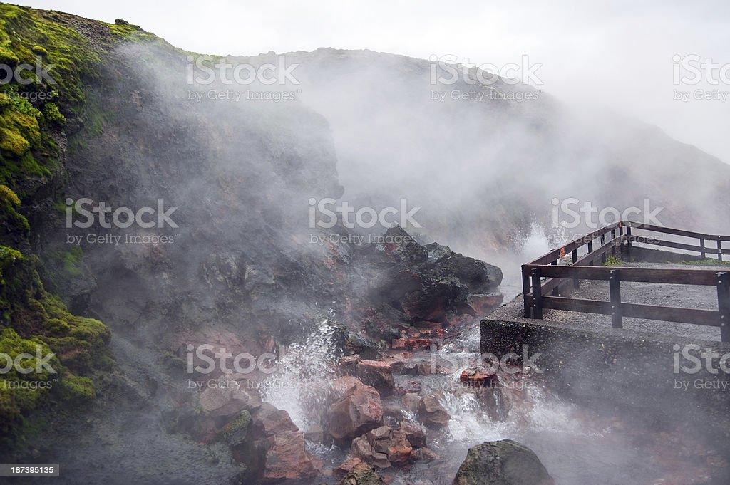 Island - Thermalquelle Deildartunguhver royalty-free stock photo