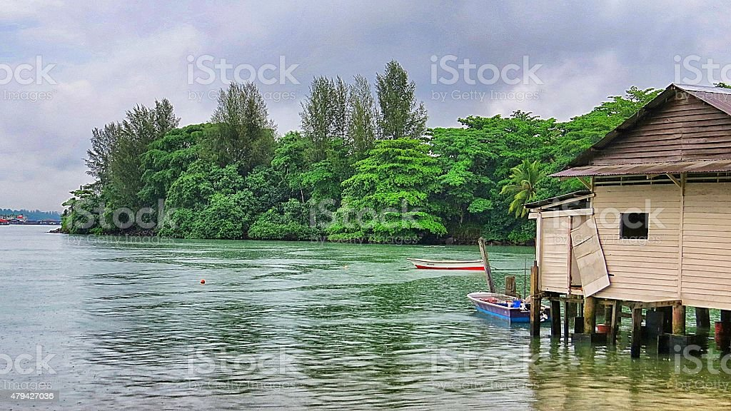 pulau ubin stock photo