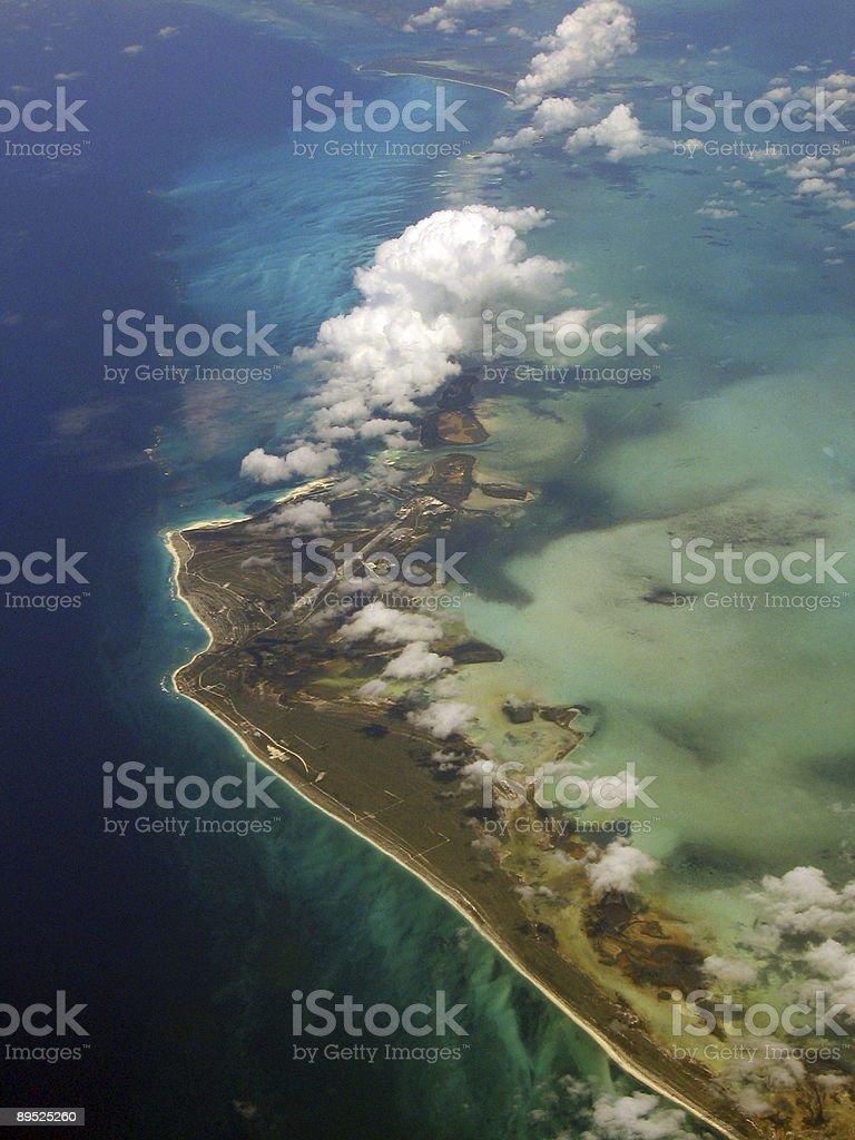 Vista a la isla desde arriba foto de stock libre de derechos