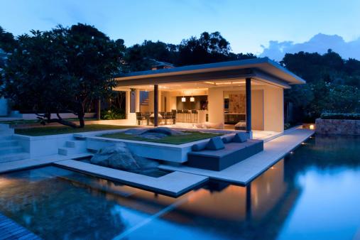 Island Villa Stock Photo - Download Image Now