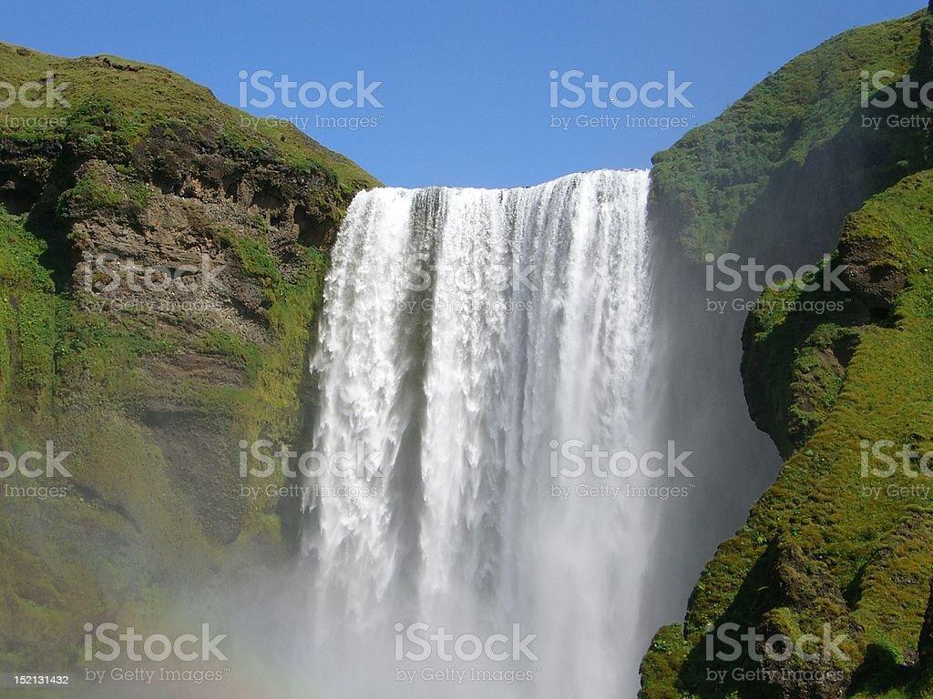 Island Wasserfall royalty-free stock photo