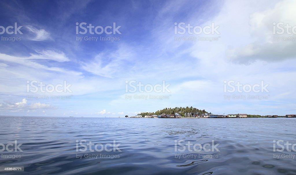 Island with beautiful sky royalty-free stock photo