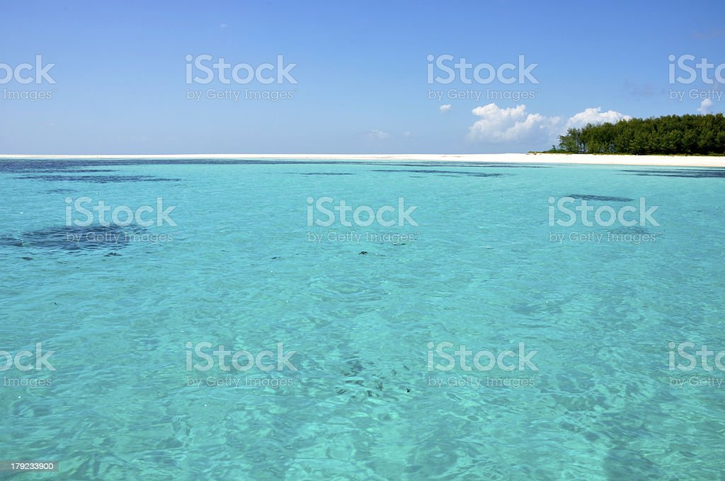 Island with blue Ocean stock photo