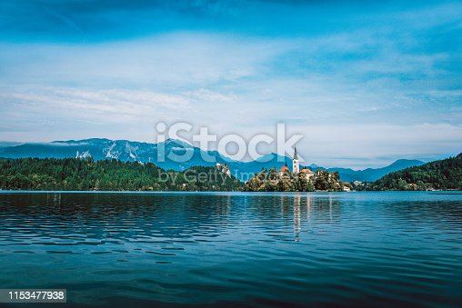 Island With Church On Lake Bled, Slovenia