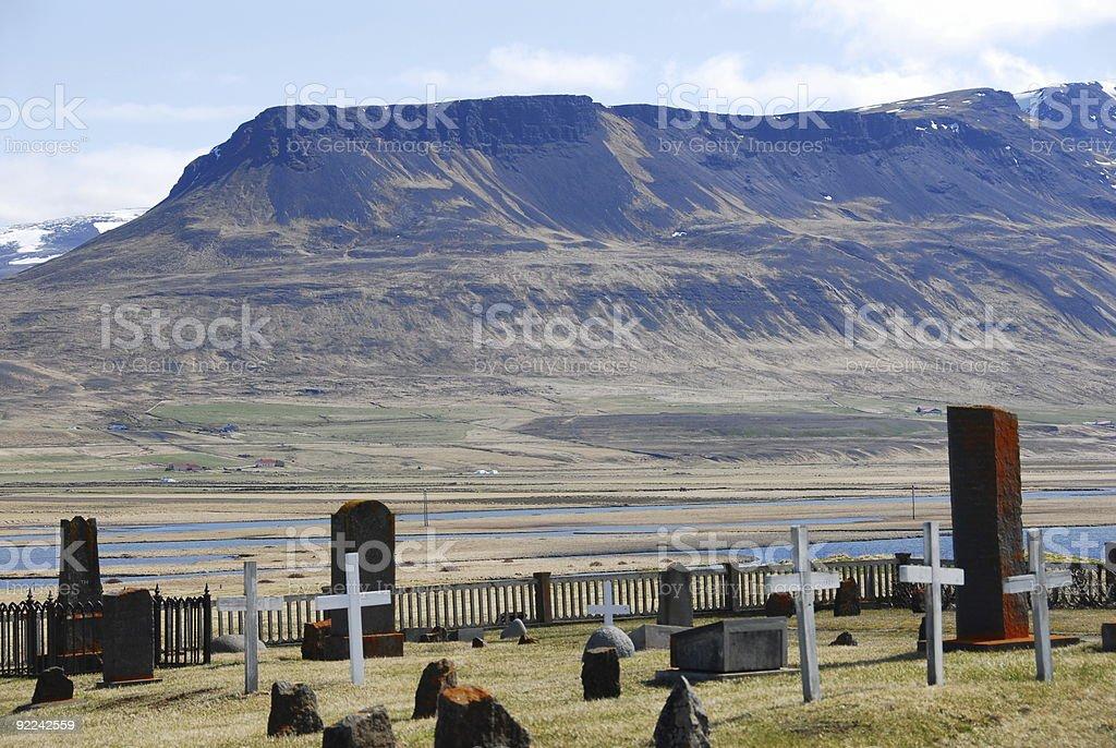 Islandic Cemetery stock photo
