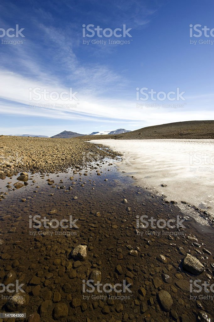 Islandic landscape stock photo