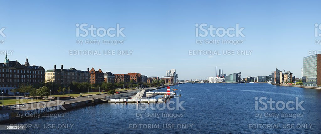 Islands Brygge harbor bath royalty-free stock photo