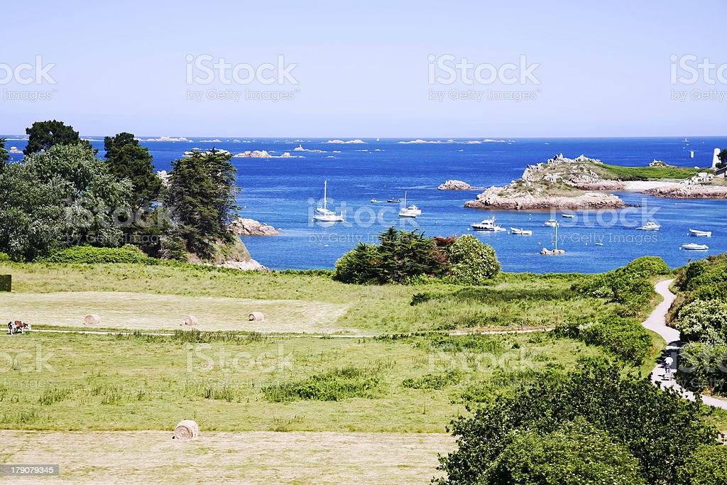 islands in Brittany, France stock photo