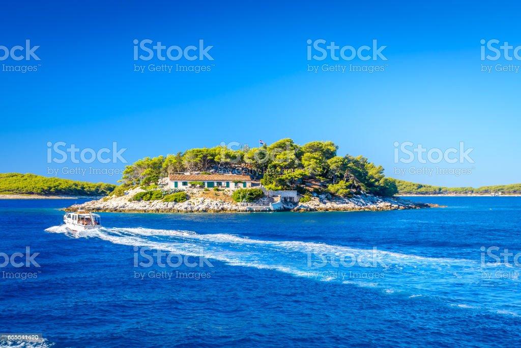 Islands in Croatia, Mediterranean Sea. stock photo