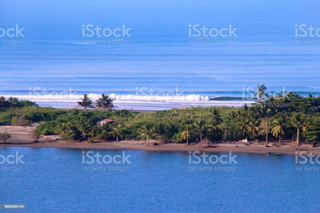 Islands in Pacific ocean royalty-free stock photo
