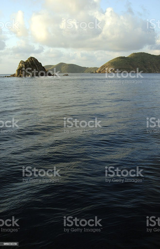 Islands in the Caribbean Ocean royalty-free stock photo