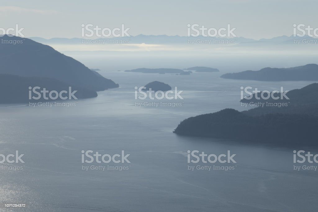 Islands in the distance stock photo