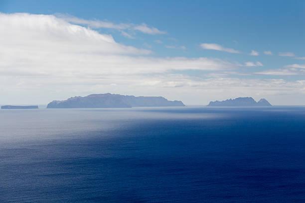 islands (ilhas desertas) in the east of madeira - bugio imagens e fotografias de stock