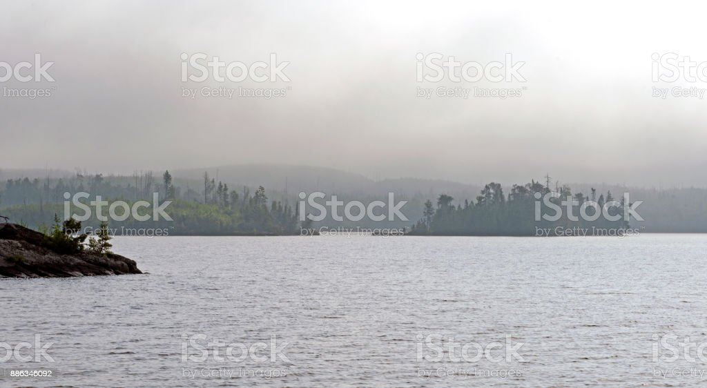 Islands in the Morning Mist stock photo