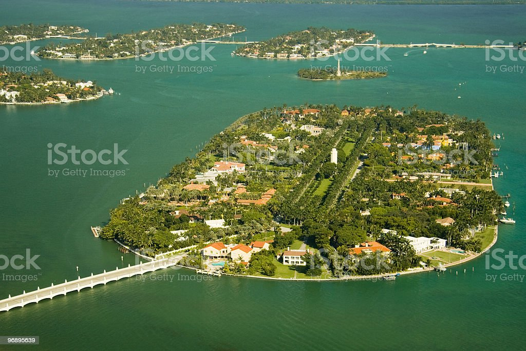 Islands in the ocean royalty-free stock photo