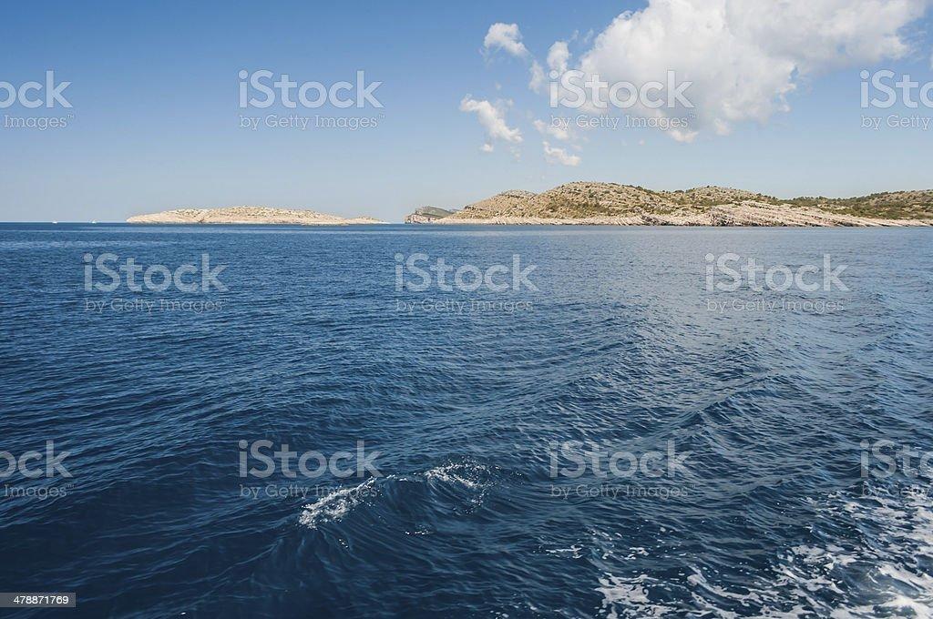 Islands in the sea, Kornati National Park, Croatia royalty-free stock photo