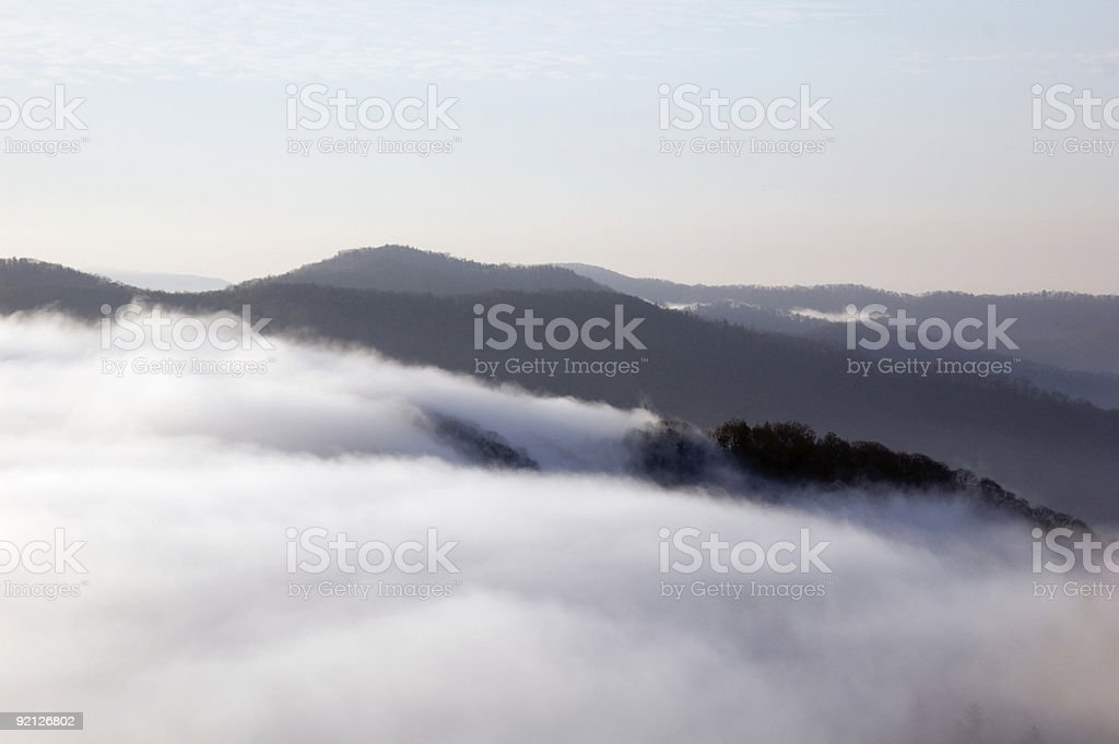 Islands in the Sky royalty-free stock photo
