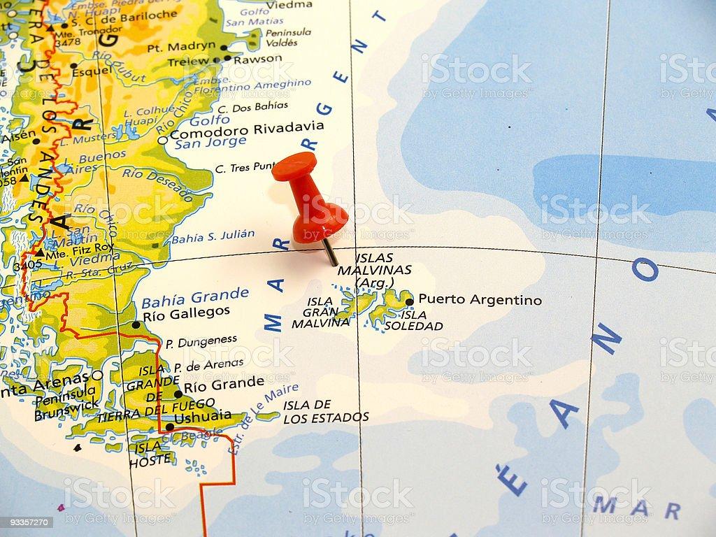 Islands Malvinas, Argentina stock photo