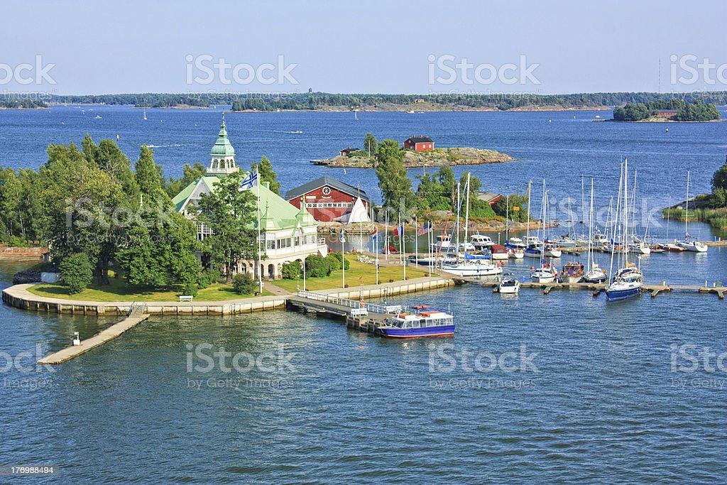 Islands  near Helsinki in Finland royalty-free stock photo