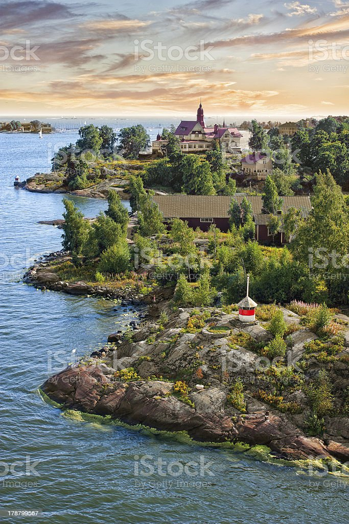 Islands  near Helsinki in Finland stock photo