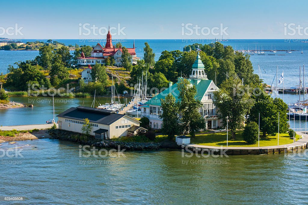 Islands  near Helsinki in Finland stock photo
