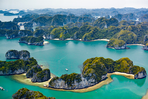 Islands Of Ha Long Bay Vietnam Stock Photo & More Pictures of 2015
