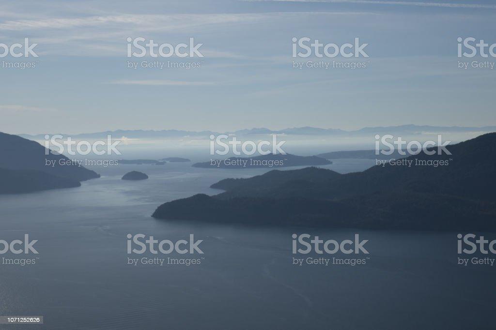 Islands of Howe Sound stock photo