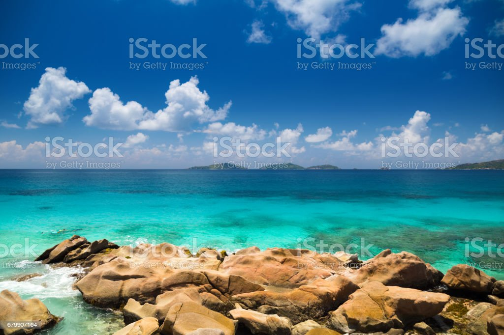 Islands of Seychelles stock photo