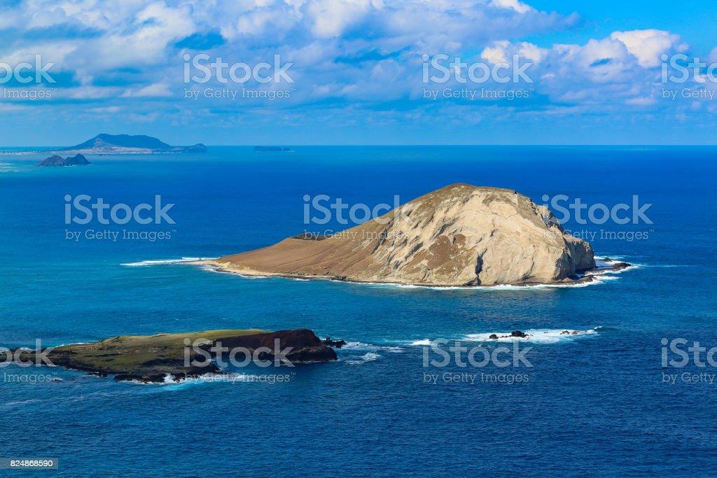 Islands off of the Kawai Coast stock photo