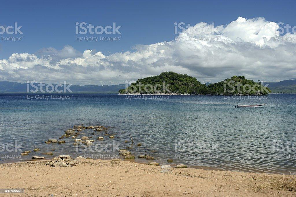Islands on Lake Malawi stock photo