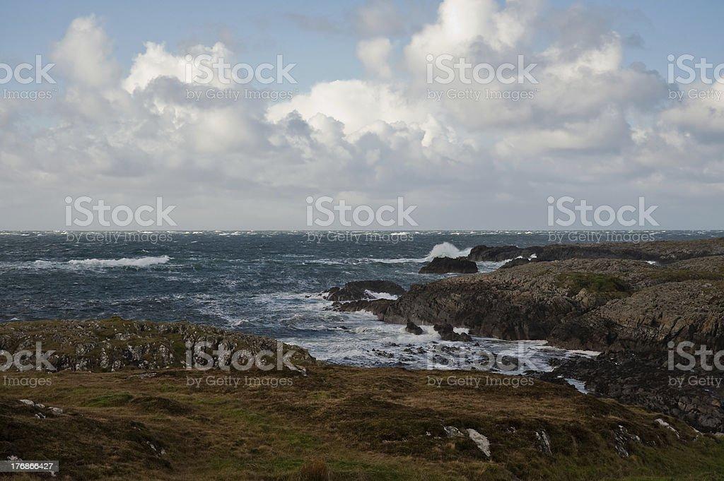 Islay coast stock photo
