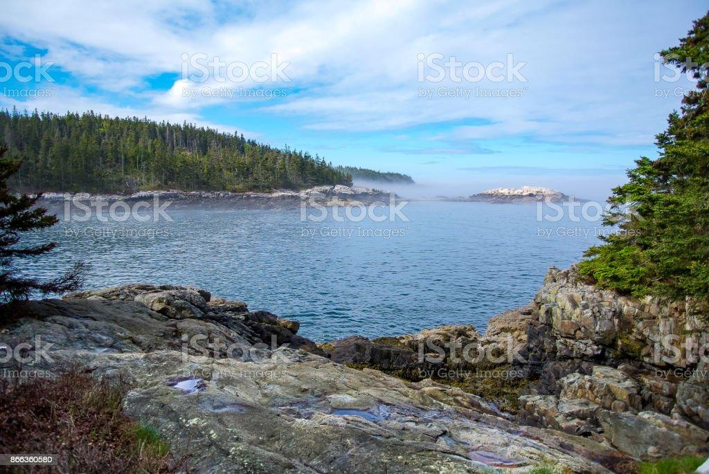 Isle au Haut Coast - Acadia National Park stock photo