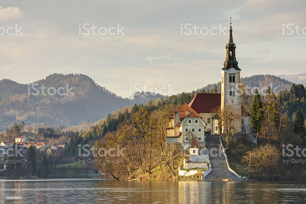Isle in Bled Lake. Slovenia. royalty-free stock photo
